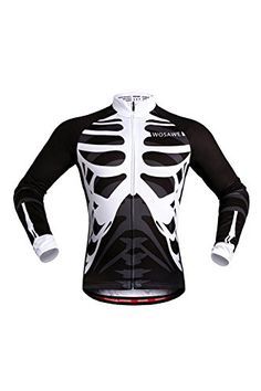 WOSAWE Mens Breathable Cycling Jersey 3D coatL by WOSAWE   More info could  be found at 788bf0f49