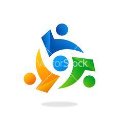 Circle people group teamwork logo vector by mydigitall - Image ...