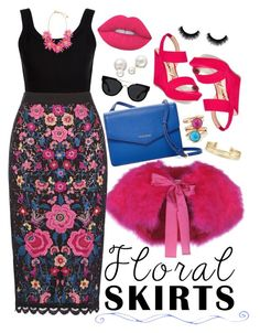 """Floral Fun"" by xfashionablyfabulousx on Polyvore featuring Calvin Klein Collection, RED Valentino, Cole Haan, American Rag Cie, Quay, Stella & Dot, Avon, Lime Crime and Allurez"