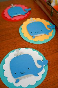 Baby shower game winners received  cute whale medals!