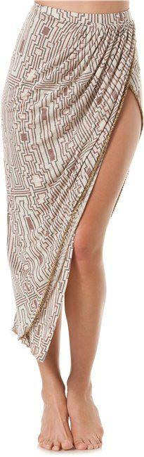 """slit long skirt. so far the only """"high-low"""" skirt i like! super sexy!"""