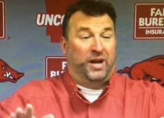 Bret Bielema is very excited about hopping on his wife! [Video]
