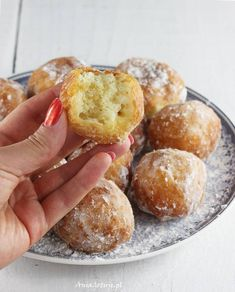 Pączki serowe | AniaGotuje.pl Pretzel Bites, Muffin, Bread, Baking, Breakfast, Sweet, Kitchen, Food, Recipes