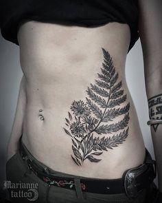 53 Gorgeous Fern Tattoo Designs and Ideas - Page 3 of 5 - TattooBloq - Fern Tattoo by dye_em_black - Vine Tattoos, Foot Tattoos, Body Art Tattoos, Sleeve Tattoos, Tattoo Sleeves, Pretty Tattoos, Unique Tattoos, Beautiful Tattoos, Small Tattoos