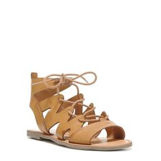 Indigo Rd Women's Bardot Lace Up Sandals (Sand Dune) - 6.0 M