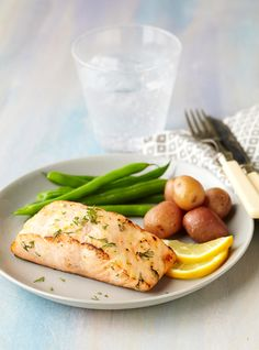 Lemon-Dill Salmon recipe - the perfect summer meal; simple to prepare and great to share with family and friends.