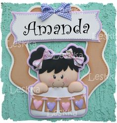 fun foam name plate Foam Crafts, Baby Crafts, Diy And Crafts, Baby Shower Table Cloths, Birthday Souvenir, Baby Names, Minnie Mouse, Kids Room, Projects To Try