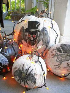 DIY CRAFTS HALLOWEEN Creepy Chimera Decoupage Pumpkins