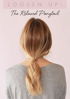 The laid back pony tail. We enlisted the help of Mara Roszak, Celebrity Hairstylist for L'Oréal Paris, to break it down for us and give us the steps for how to achieve this perfect simple, yet elegant ponytail in just 5 steps.