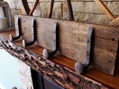 coat rack rail road spike rack coat storage by oakridgeironwork