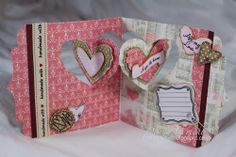 Donna Wright using the Pop it Ups Heart Pivot Card and Agatha Edges dies by Karen Burniston for Elizabeth Craft Designs - Old Red Shed: Heart pivot card. Fun Fold Cards, Pop Up Cards, Folded Cards, Valentine Day Cards, Valentines, Craft Shed, Elizabeth Craft Designs, Homemade Cards, Mini Albums