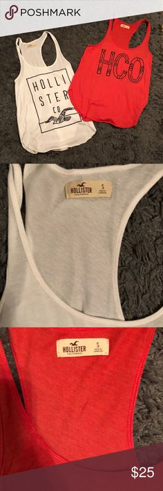 set of 2 Hollister tank tops These are super cute tanks in great condition! Hollister Tops Tank Tops