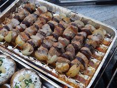 Rablóhús rozéban pácolt sertéscombból - Húsimádó Sausage, Grilling, Bbq, Meat, Recipes, Food, Barbecue, Barrel Smoker, Sausages