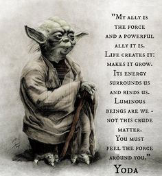 """""""Luminous beings are we. Quotable Quotes, Wisdom Quotes, Qoutes, Life Quotes, Quotations, Star Wars Film, Star Wars Art, Yoda Quotes, Movie Quotes"""