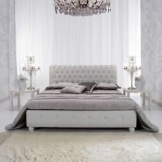 Letto in pelle con bottoni originali Swarovski http://www.lineahouse.it/product.php?id_product=76