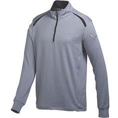 PUMA Golf Mens Golf LS 14 Zip Top-Cresting Tradewinds T-Shirt MD Mens 77504e279