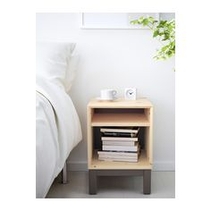 Buy IKEA TRYSIL Bedside table White stained oak effect, White. Combines with other furniture in the TRYSIL series. Bedside Table Ikea, Nightstand, Ikea Trysil, Ikea Chest Of Drawers, Ikea Regal, Ikea Makeover, Ikea Shelves, Affordable Furniture, Home Decor Ideas