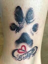 Pet memorial tattoo...Paw print...                              …