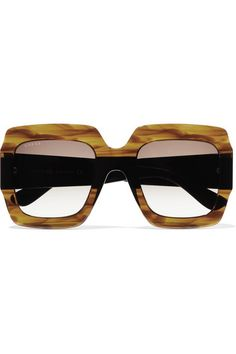 ccbea4e547c Gucci - Oversized Square-frame Tortoiseshell Acetate Sunglasses