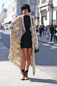 Little black dress with some oversized knitwear x