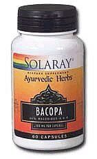 Bacopa Leaf Extract - 60 - Capsule by Solaray. Save 22 Off!. $8.68. Description:         Bacopa Leaf Extract    100mg. 20% Bacosides A & B              Size:          60ct 100mg           Directions:         As a dietary supplement,    take one capsule three times a day with meals or a glass of water.              Serving Size:          1 Capsule  60    Servings per container                                                    Ingredients:                      Amount per serving: