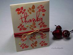 Thanks - autumn colours #thankyou #handmade card