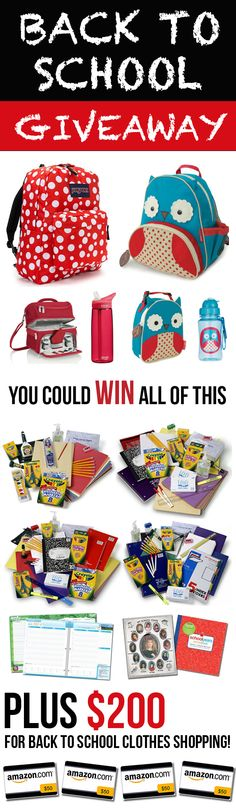 Preparing your kids for school can get expensive fast, especially when you've got more than one to buy for!  That's why we are partnering with 9 awesome blogs to make one family's school shopping the easiest EVER!  Don't miss your chance to win $500 in school supplies & gift cards for back to school!