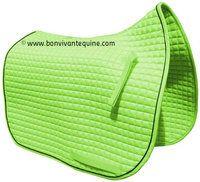 Lime Green Dressage Saddle Pad
