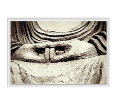 "Meditation by Lupen Grainne, 42 x 28"", Ridged Distressed, White, No Mat"
