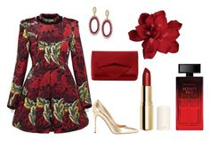 """Red is the new black"" by irina-verlan on Polyvore featuring Marc by Marc Jacobs, Sergio Rossi, Effy Jewelry, Oscar de la Renta, H&M and Elizabeth Arden"
