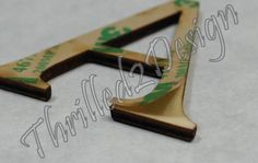 Peel and Stick Acrylic Letters or Numbers w Permanent Sticker - Laser Cut