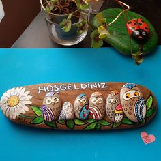 Welcome home... Hoşgeldiniz... #tasboyama #paintingstones #stoneart…