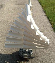 Wind electric generator using old ceiling fan.