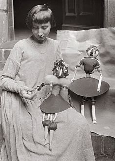 Hannah Höch with her Dada puppets, ca 1920 by Willy Römer Hannah Hoch, Puppets, Appreciation, Google Search, Photos, Painters, Artists, Pictures, Photographs