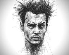 Faces Scribble Portraits by Vince Low 4 Les gribouillis incroyables de Vince Low