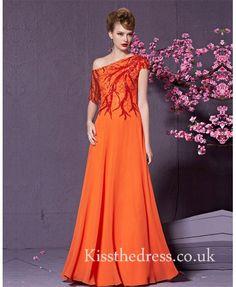 orange prom dress ht