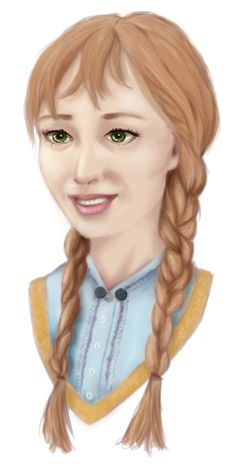 I wanted to practice drawing braids so I drew OUAT anna (originally from Frozen)