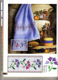 Here you can look and cross-stitch your own flowers. Cross Stitch Bookmarks, Mini Cross Stitch, Cross Stitch Borders, Cross Stitch Flowers, Cross Stitch Designs, Cross Stitching, Cross Stitch Embroidery, Embroidery Patterns, Cross Stitch Patterns