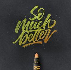 Colorful Brushpen Lettering Set on Behance