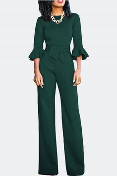 f84faefc41733 Frill Elbow Length Sleeve Jumpsuit
