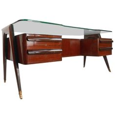Executive Desk by Dassi | From a unique collection of antique and modern desks at http://www.1stdibs.com/furniture/storage-case-pieces/desks/