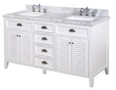 Palazzo 60-Inch Double Bathroom Vanity bella 60-inch double bathroom vanity (carrara/white): includes
