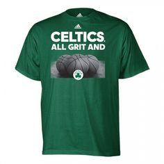 Awesome Adidas Celtics Grit and Balls T-shirt [Green]