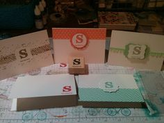 Stampin' in the Sun!: Monogrammed Set of Cards using 2013-2015 In-Colors