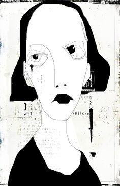« portrait » | by les brumes / tête de caboche /// linda vachon