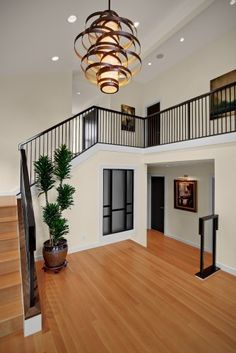 two story foyer lighting ideas - Google Search                                                                                                                                                                                 More