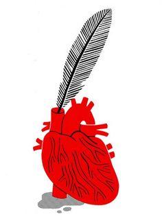 Fountain Pen Anatomical Heart Art