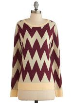Zigzagology Sweater   Mod Retro Vintage Sweaters   ModCloth.com