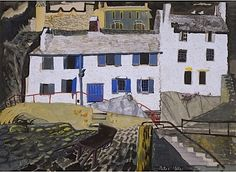 Outer Harbour, Polperro, 1946 Painting Gallery, Landscape Paintings, Landscapes, Artist Painting, England, Watercolor, Buildings, House Styles, Art Journals