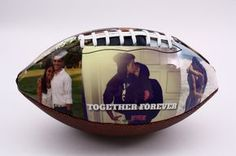 Customized football, perfect gift for Valentine's Day, anniversary or birthday. Impress your boyfriend, girlfriend, husband or wife or any of your loved ones with Make A Ball. #boyfriendgift #girlfriendbirthday
